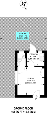 Large floorplan for Rockhall Road, Cricklewood, NW2