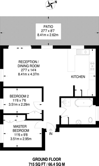 Large floorplan for Kingsleigh Walk, Bromley, BR2