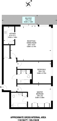 Large floorplan for Discovery Dock, Canary Wharf, E14
