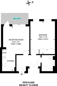 Large floorplan for Bellwether Lane, Wandsworth Town, SW18