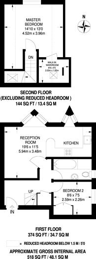Large floorplan for Madrid Road, Guildford, GU2
