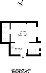 Large floorplan for Devonshire Place, Marylebone, W1G