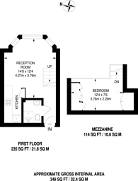 Large floorplan for Colville Gardens, Westbourne Grove, W11