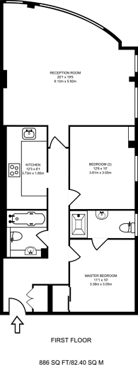 Large floorplan for Aitman Drive, Brentford, TW8