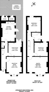 Large floorplan for Greenside Road, Croydon, CR0