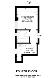 Large floorplan for Hatherley Grove, Bayswater, W2