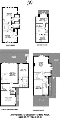 Large floorplan for St Annes Mews, Wimbledon, SW20
