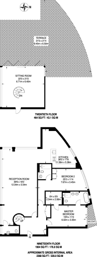 Large floorplan for Newgate, Croydon, CR0
