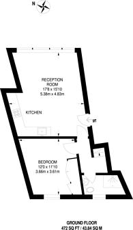 Large floorplan for Petherton Road, Islington, N5