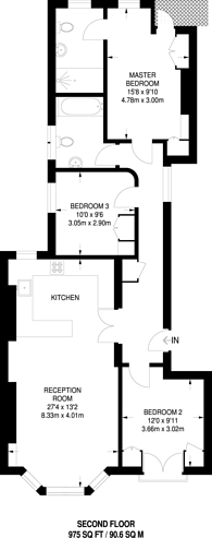 Large floorplan for Leith Mansions, Maida Vale, W9