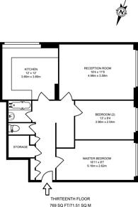 Large floorplan for Hall Street, Clerkenwell, EC1V