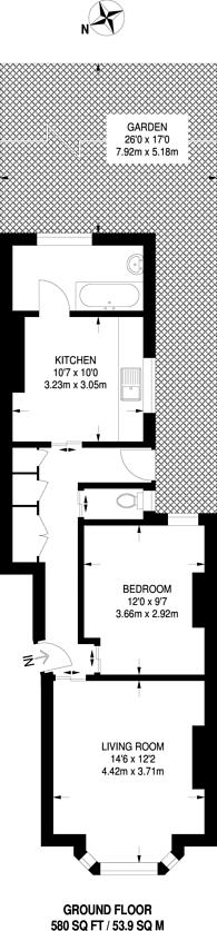 Large floorplan for Scrubs Lane, Kensal Green, NW10