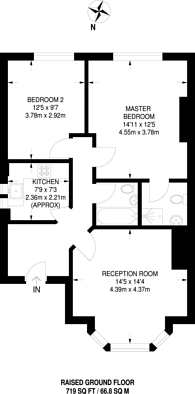Large floorplan for Cavendish Road, Queen's Park, NW6