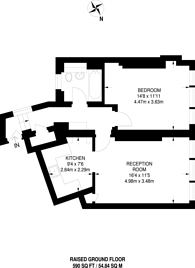 Large floorplan for Rosebery Avenue, Clerkenwell, EC1R
