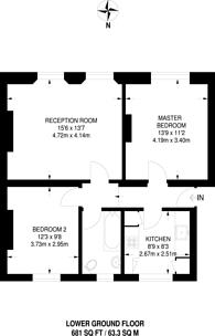 Large floorplan for Myddelton Square, Angel, EC1R