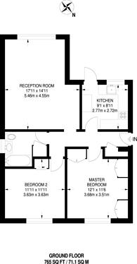 Large floorplan for The Avenue, Hatch End, HA5
