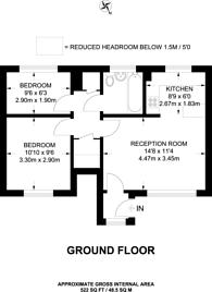 Large floorplan for Allhallows Road, Beckton, E6