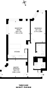Large floorplan for Upper Thames Street, St Pauls, EC4V