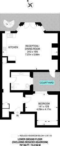 Large floorplan for Onslow Gardens, South Kensington, SW7