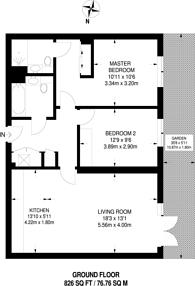 Large floorplan for High Street, Hornsey, N8