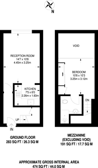 Large floorplan for Priory Grove, Stockwell, SW8