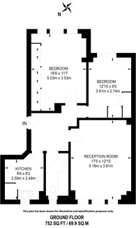 Large floorplan for Apsley House, St John's Wood, NW8