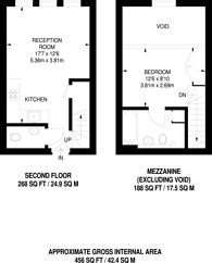 Large floorplan for Tollington Road, Lower Holloway, N7