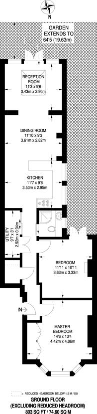 Large floorplan for Ivy Road, Cricklewood, NW2