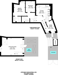 Large floorplan for St Michaels Street, Paddington, W2
