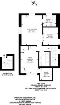 Large floorplan for Aldridge Road Villas, Notting Hill, W11