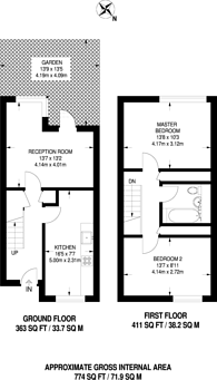 Large floorplan for Teviot Street, Poplar, E14