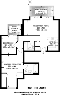 Large floorplan for Becketts Place, Kingston, KT1