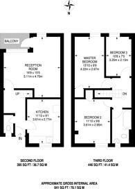 Large floorplan for Crowndale Road, St Pancras, NW1