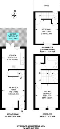 Large floorplan for Burdett Mews, Queensway, W2