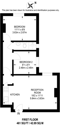 Large floorplan for York Road, Guildford, GU1