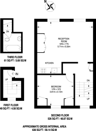 Large floorplan for Packington Street, Angel, N1