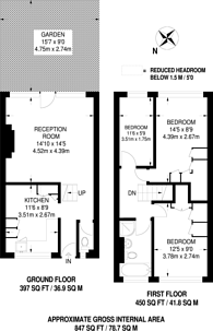 Large floorplan for Crondall Court, Hoxton, N1