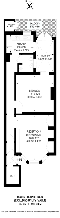 Large floorplan for Upcerne Road, Lots Road, SW10