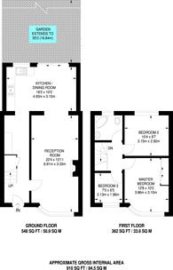 Large floorplan for Derwent Avenue, East Barnet, EN4