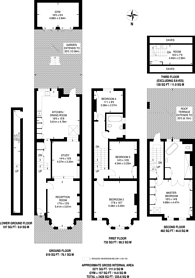 Large floorplan for Callcott Road, Brondesbury, NW6
