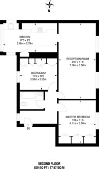 Large floorplan for Baron Street, Islington, N1