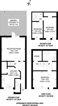 Large floorplan for Mackenzie Road, Holloway, N7