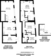 Large floorplan for Ensor Mews, South Kensington, SW7