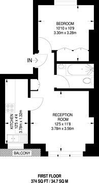 Large floorplan for Hurlingham Road, Hurlingham, SW6