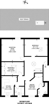 Large floorplan for Rye Lane, Peckham, SE15
