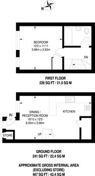 Large floorplan for Wheelers Drive, Ruislip, HA4