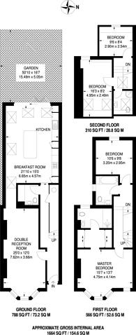 Large floorplan for Hamilton Road, South Wimbledon, SW19