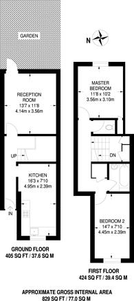 Large floorplan for Eskdale Close, Wembley, HA9