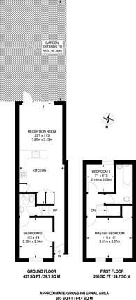 Large floorplan for Fawcett Road, Croydon, CR0