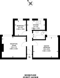 Large floorplan for Elder Gardens, West Norwood, SE27